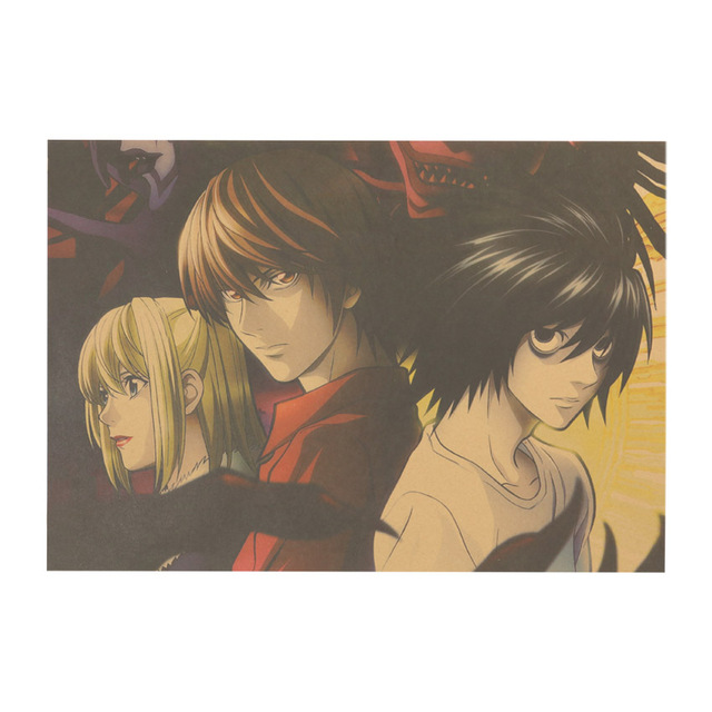 Death Note A Style Comic Poster Kraft Paper Wall Sticker