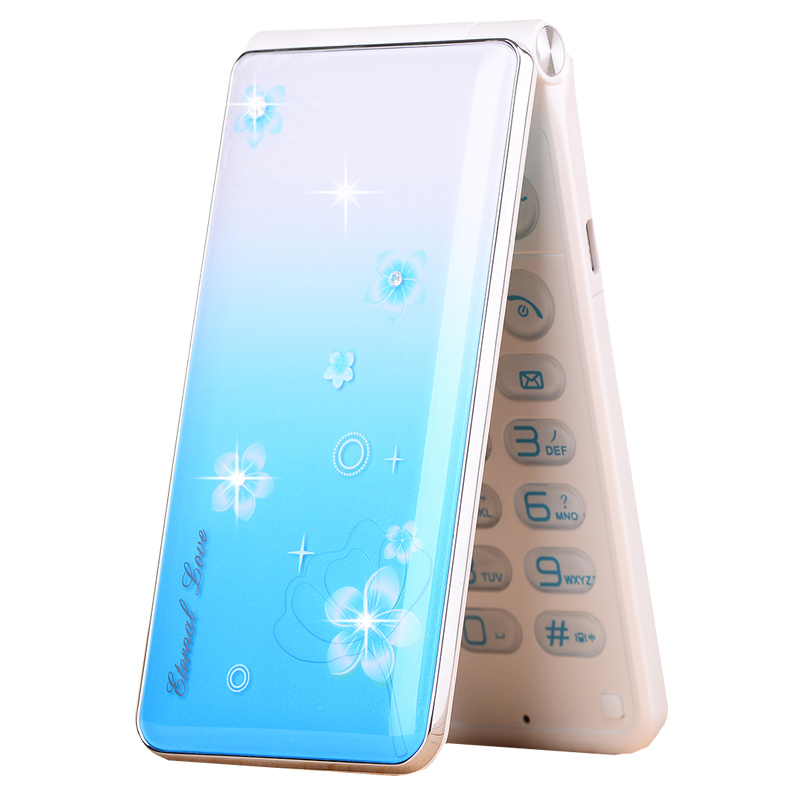 Flip Speed Dial Touch Screen LED Flash Light Dual SIM Cards Lady Girl Spare Unlocked Moblie Phone P245