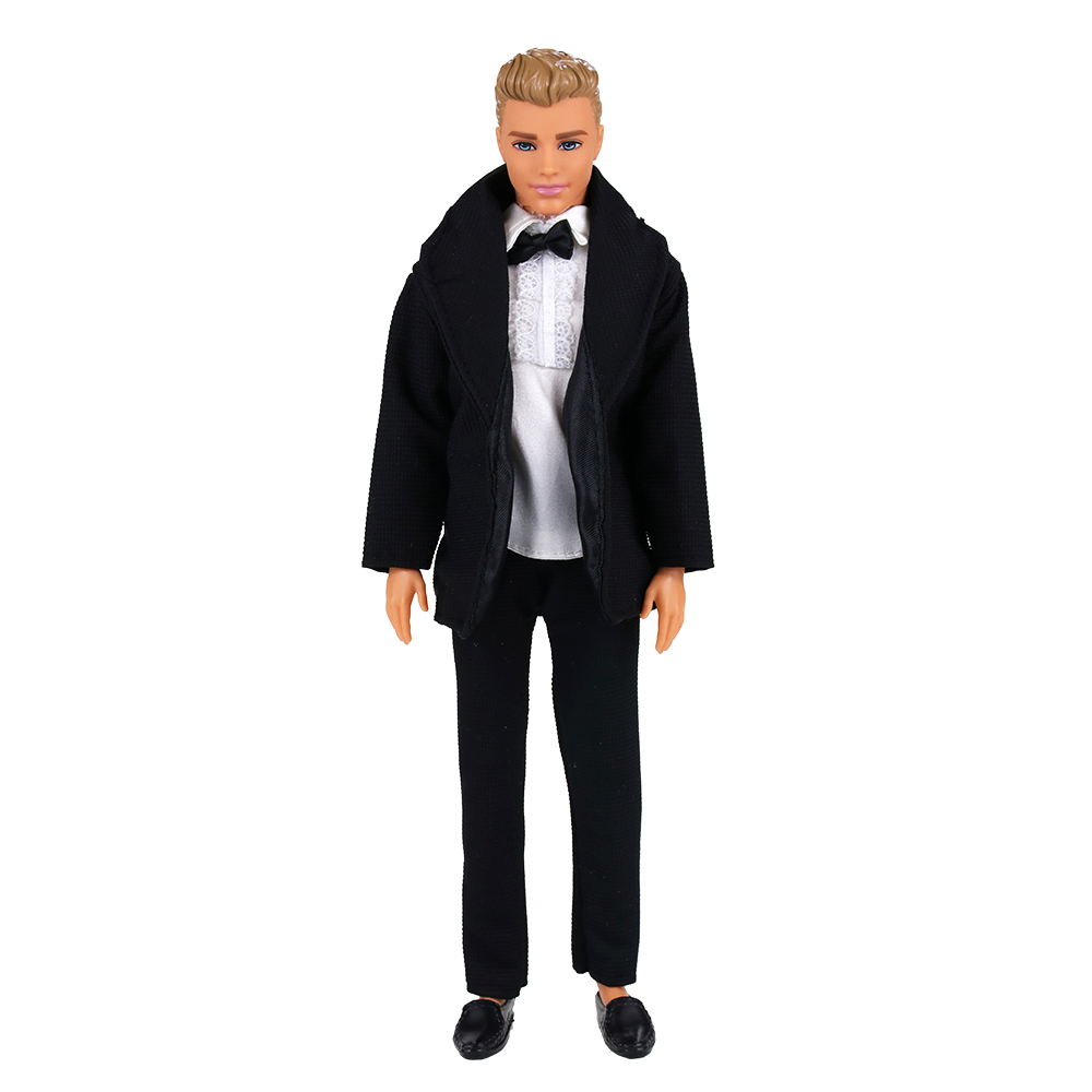 Fashion Doll Accessories Groom White Shirts Coat Pants Trousers Formal Suit Wedding  Clothes For Ken Dress For Barbie Game Gift
