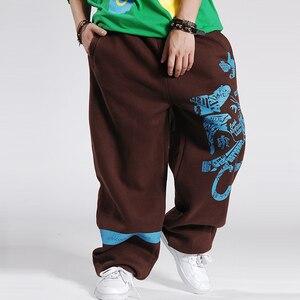 Image 4 - 2020 แฟชั่นบุรุษJoggersพิมพ์DesignerชายBaggy Hip Hop JoggerกางเกงเปิดAir SweatpantsกางเกงPantalon Homme B85