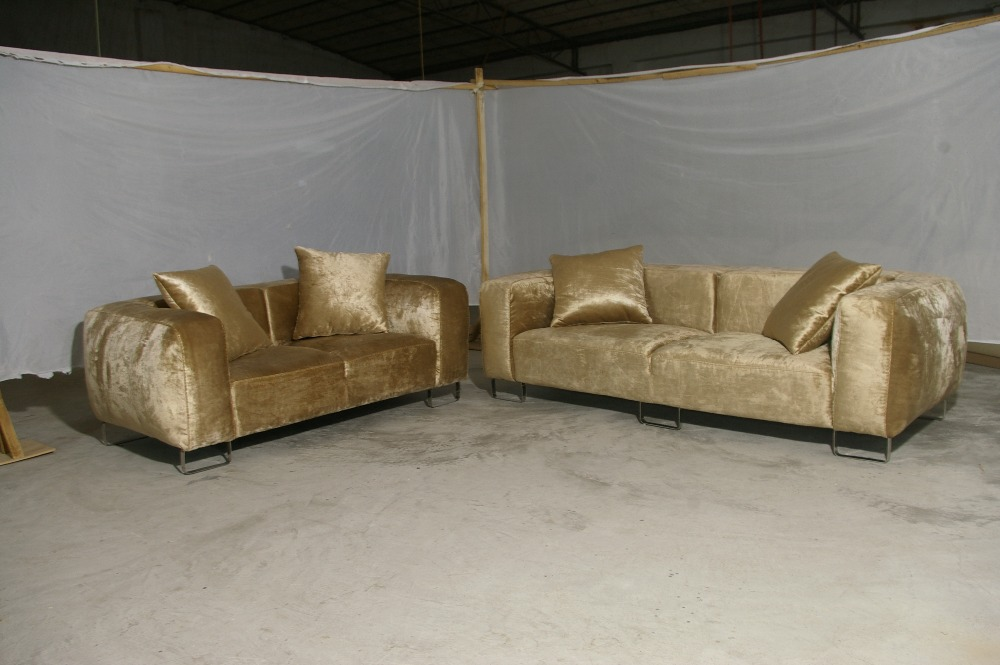 velvet sofa fabric online india power reclining with console beige french design 2013 new living room l shaped corner modern luxury feather inside