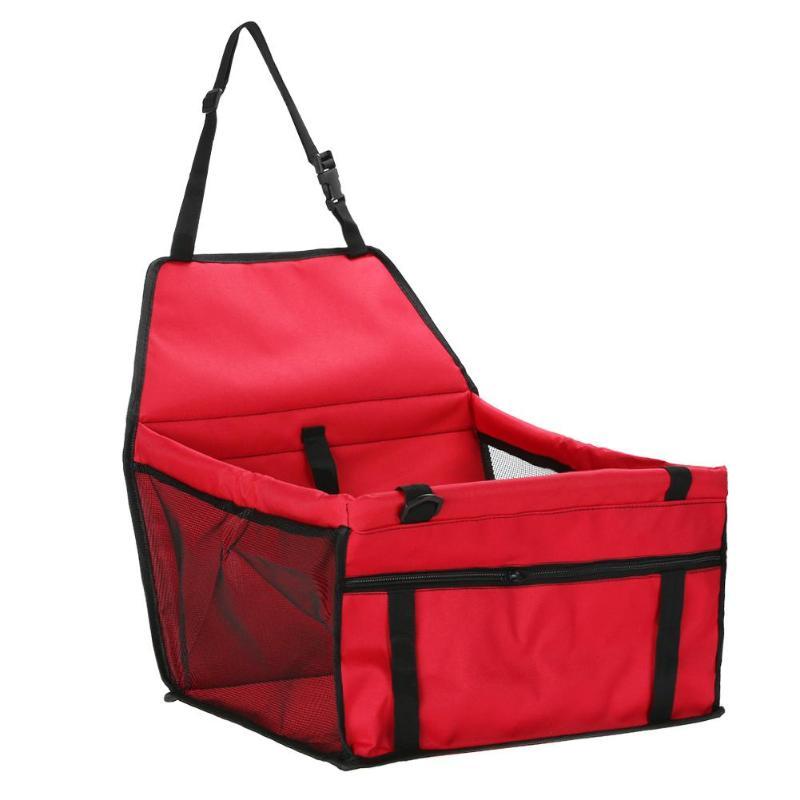 Pet Car Sheat Travel Basket-red
