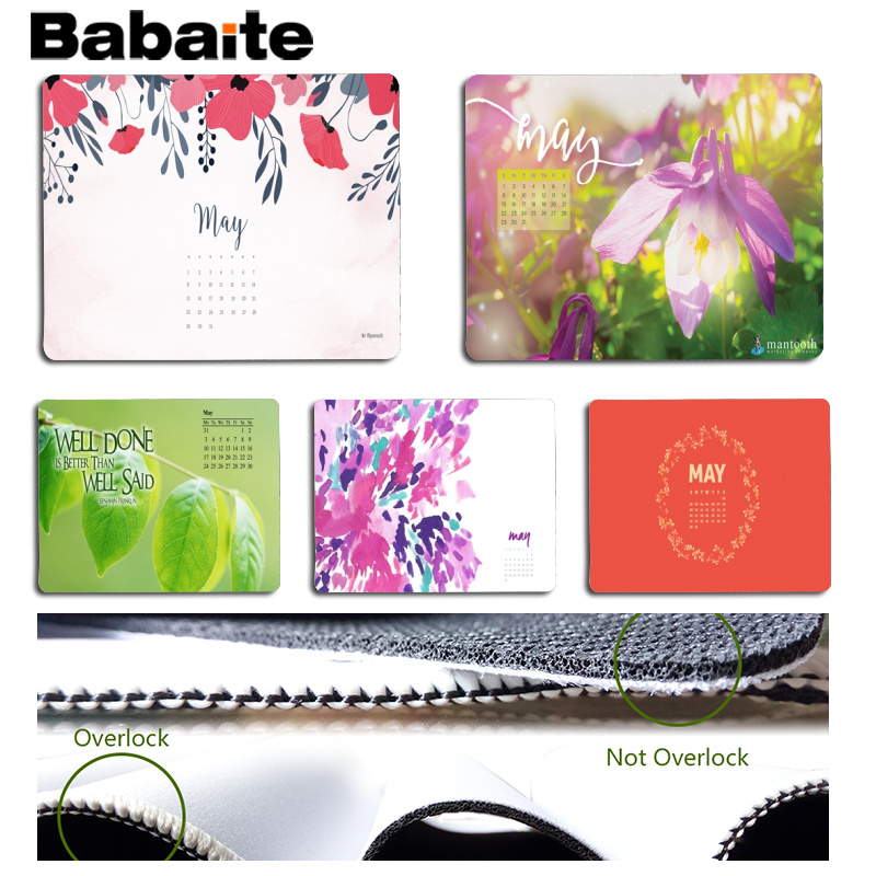 Babaite Custom Skin May Large Mouse pad PC Computer mat Size for 18x22cm 25x29cm Rubber Mousemats