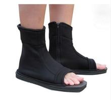 Naruto Konoha Ninja Village Black Blue Sandals Boots Shoes