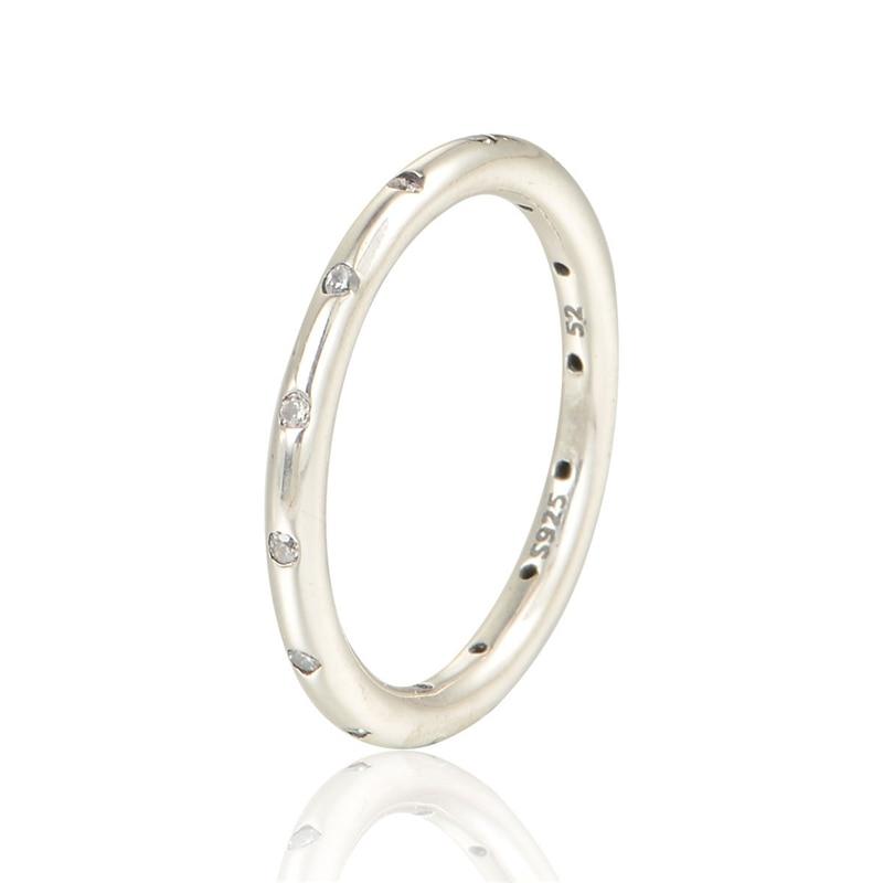 pandora anillo gotas brillantes
