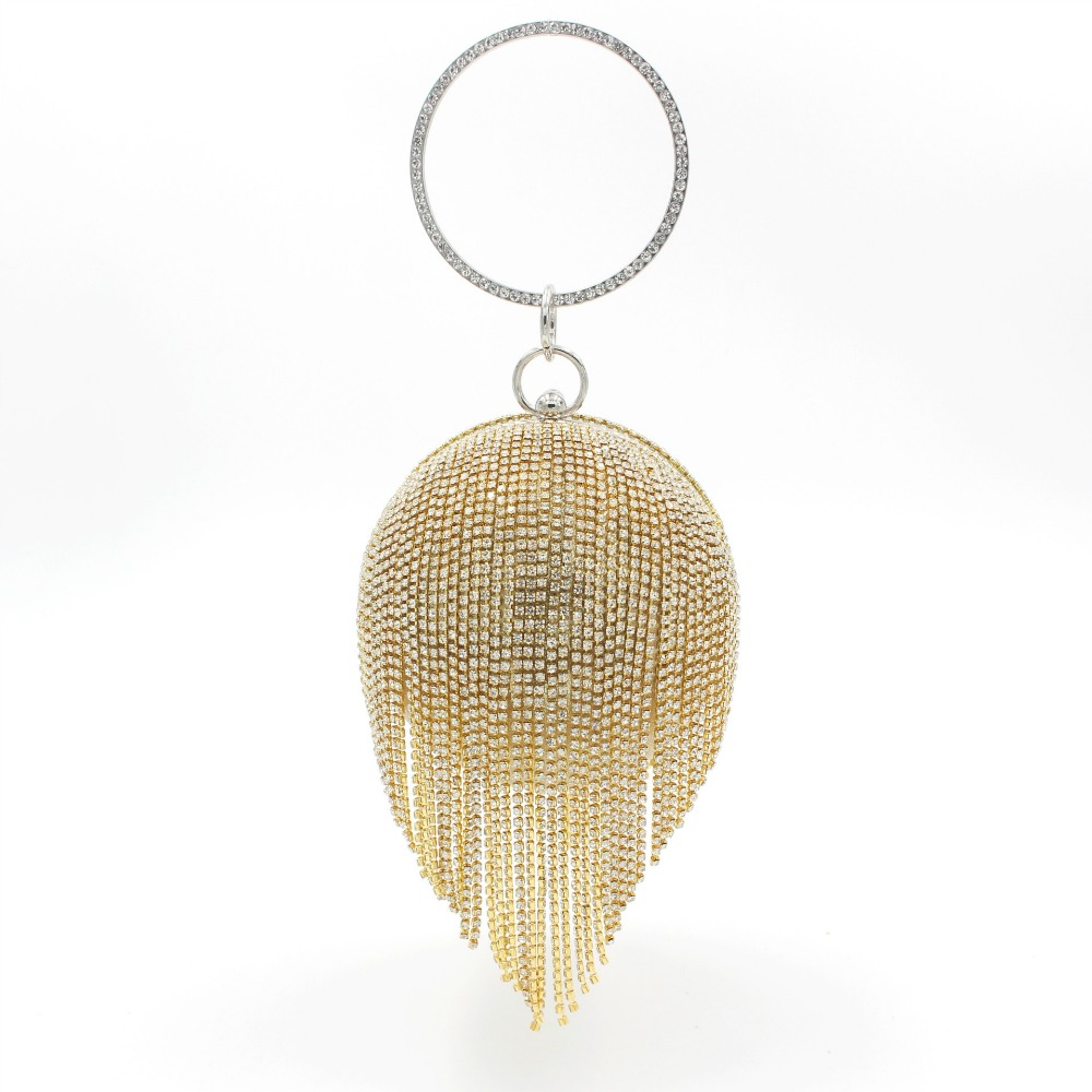 Luxury Handbags Women Bags Designer Gold Clutch Red Ball Shaped Silver Evening Bag Ladies Round Shoulder Wedding Purse Bag perfect gold silver clutch purse fish shape bag stylish genuine cowhide modernbag ladies brand designer messenger bags