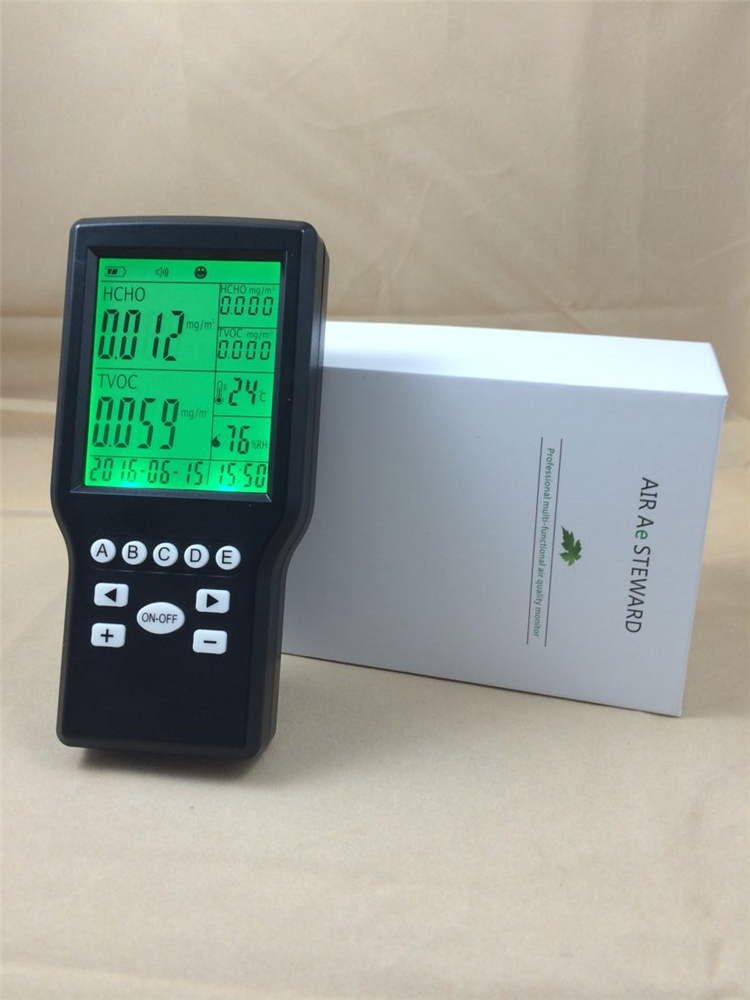 2016 new Handheld Formaldehyde Gas detector Sound Alarm Gas monitoring free shipping lcd digital formaldehyde gas detector sound alarm gas detector for air monitoring