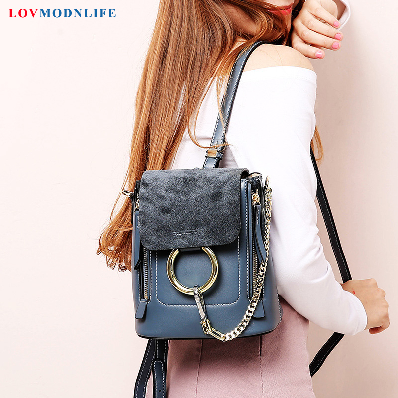 Small Womens Backpack Girls Korean Bagpack Anti Theft  Black Genuine Leather Ladies Designer Backpacks Women High Quality 2019Small Womens Backpack Girls Korean Bagpack Anti Theft  Black Genuine Leather Ladies Designer Backpacks Women High Quality 2019