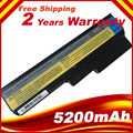 5200 mah 6 células bateria do portátil para Lenovo G550 G430 V460 B460 Z360 L08L6Y02 L08N6Y02 L08O6C02 L08S6C02 L08S6D02 L08S6Y02