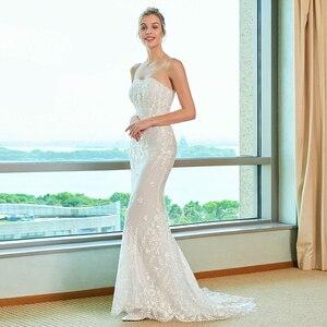 Image 5 - Dressv elegancka suknia ślubna syrenka bez ramiączek watteau pociąg aplikacje koronkowa długość podłogi suknie ślubne na zewnątrz i suknie ślubne do ślubu kościelnego