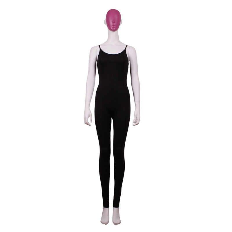 Женский комбинезон 2016, новинка, модные однотонные сексуальные комбинезоны без рукавов, круглый вырез обтягивающие, черно-белые длинные штаны, S2348