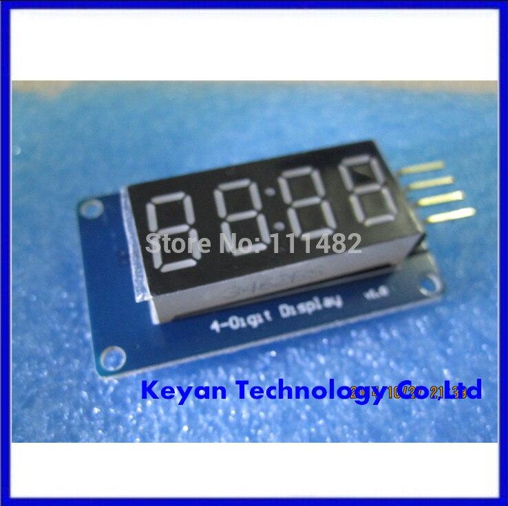 10 шт./лот 4 биты цифровой LED Дисплей модуль с часами Дисплей tm1637