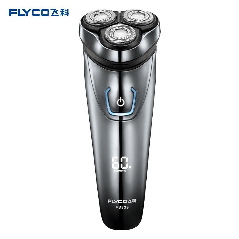 Rasoirs électriques intelligents sans fil rasoirs lavables pour hommes 3 têtes de coupe 1 heure de chargement rapide rasoir pour les cheveux du visage