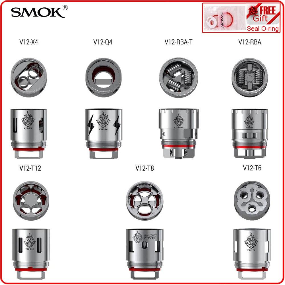 3 pcs/lot Original SMOK TFV12 Coil Head V12-T12 V12-Q4 V12-T6 V12-X4 Core DS Dual Replacement Coil For SMOK TFV12 Atomizer Tank база tfv12