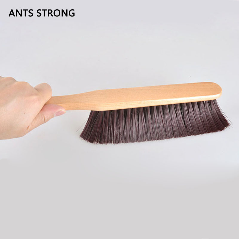 ANTS STRONG Bar counter coffee machine cleaning brush/practical wooden handle soft nylon table brushed coffee tool