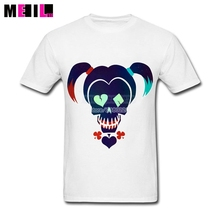 Plus Size Suicide Squad Harley Quinn Unique Boy T-shirts White Short Sleeve Custom Have A Shirt Made