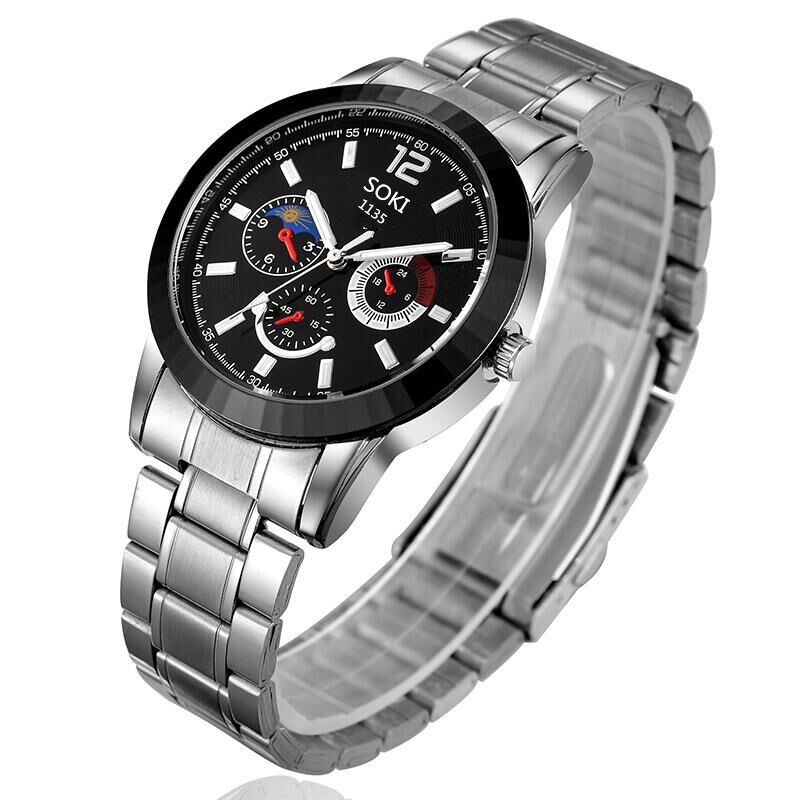 nice watch brands men promotion shop for promotional nice watch in 2016 the new soki brand quartz watch precision stainless steel business fashion watch nice men leisure waterproof watch