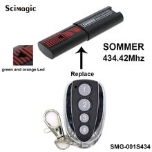 Mando a distancia Para SOMMER 4014, TX03 434 2, 4013, TX02 434 4, apertura 4022, 4014, 434,42 MHz, código rodante, 4 canales