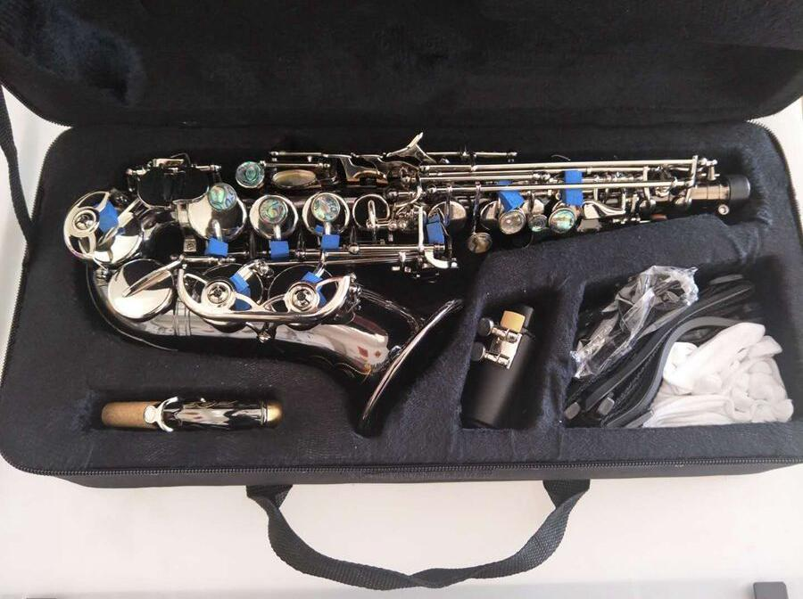 Avancée antique Soprano Saxophone SOPRANO Courbe sax