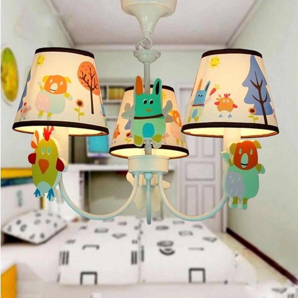 ФОТО Hghomeart Children Children's Bedside Kids Bedroom Garden Style Led Chandelier