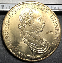 Austria 1915 4 Ducats - Franz Joseph I (Trade Coinage) Gold Copy Coin