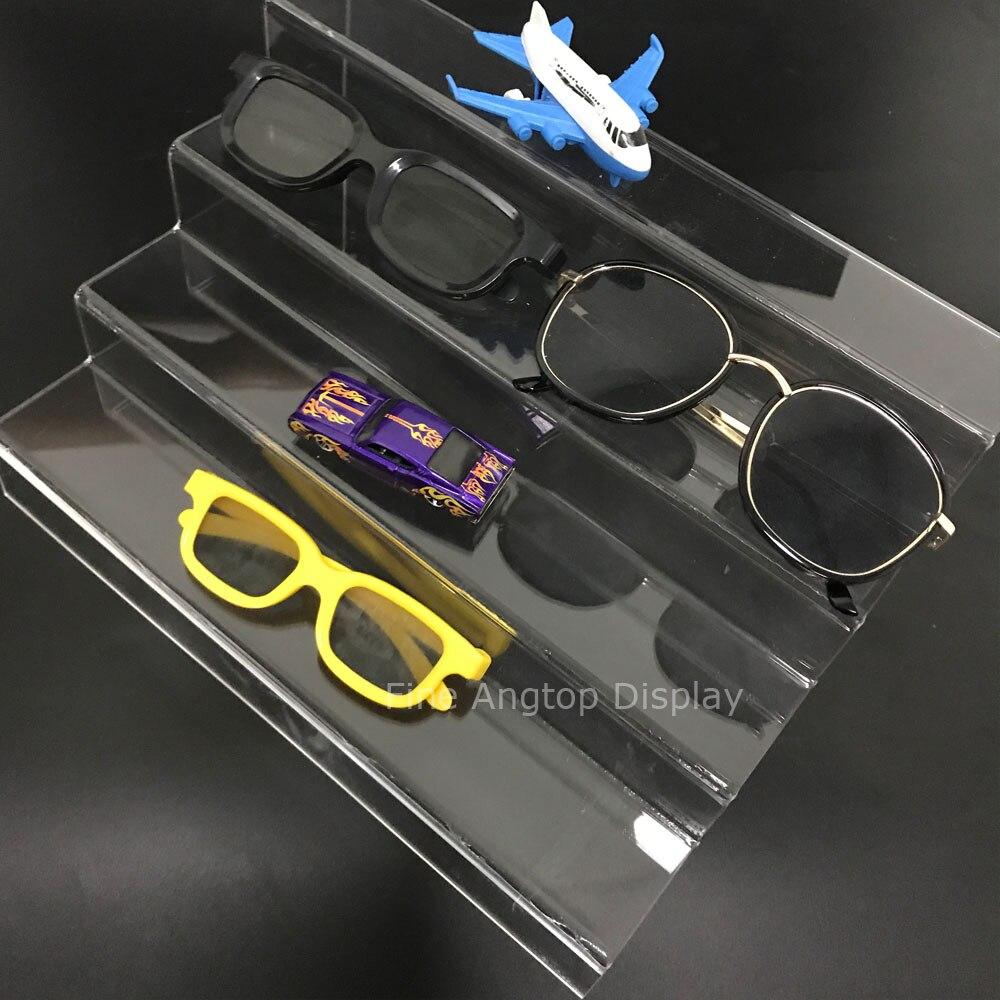 Jasne 4 Tier akrylowe Riser krok wyświetlacz stojak na biżuterię półka dekoracji zabawki organizator małe kolekcji kamień wystawa pokaż w Pakowanie i ekspozycja biżuterii od Biżuteria i akcesoria na  Grupa 1