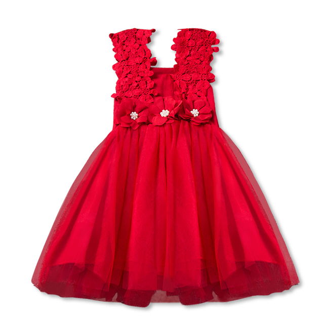 d155822e9c56a US $3.55 23% OFF|New XMAS Baby Girls Party Lace Tulle Flower Gown Fancy  Bridesmaid Dress Sundress Girls Dress Little Girl Princess Tutu Gown-in ...