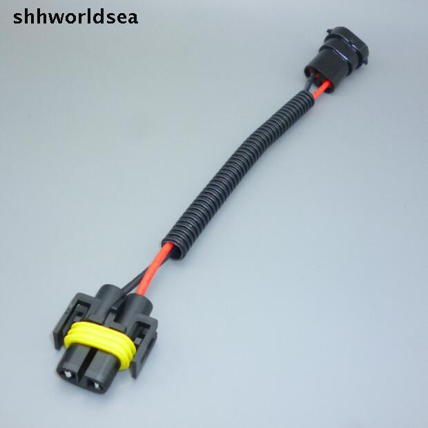 shhworldsea 50PCS H8 H9 H11 CAR Socket Car Wire Connector Cable Plug Adapter for HID LED