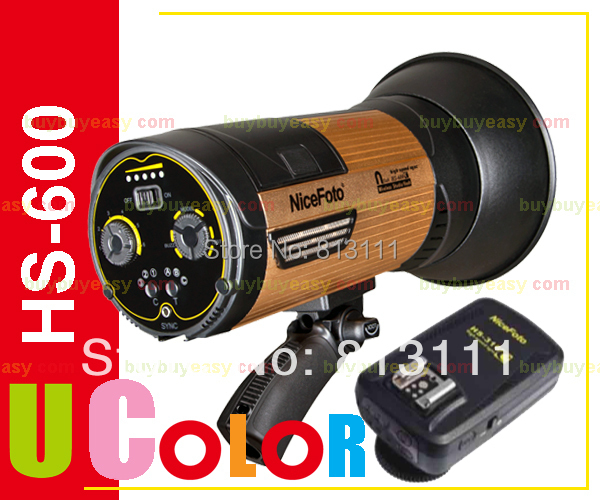 Nicefoto HS-600C Portable 600W High Speed 1/8000s Studio Flash Strobe Light with Trigger Remote For Canon DSLR Camera new 600w portable studio strobe flash high speed light embeded battery built in 2 4g wireless trigger lighting nicefoto n680a