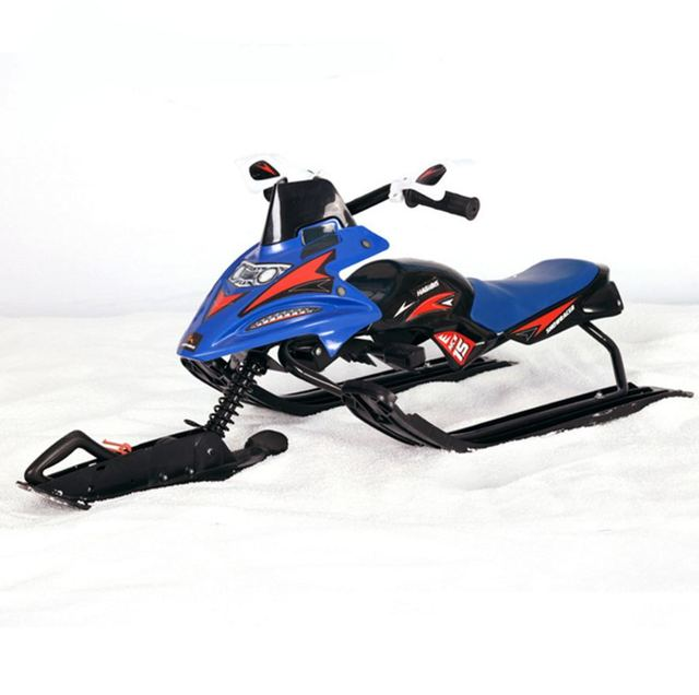 children sleigh sled skiing snowman cycle snow moto snowrunner with