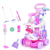 Children 's trolley over the family toy simulation electric vacuum cleaner appliances kids housekeeping keeping cleaning trolley