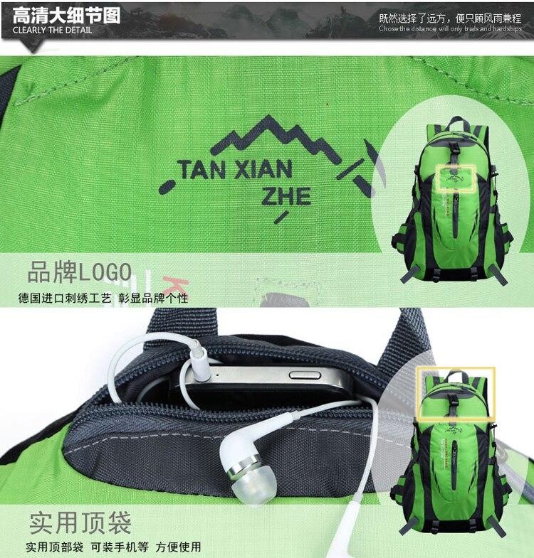 Escalada mochilas homens sacos de viagem à