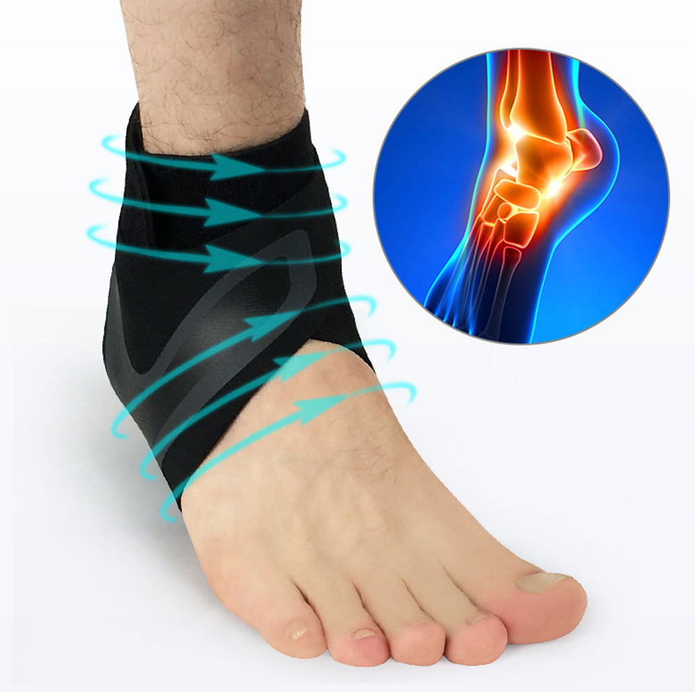 1Pair Ankle Brace Compression Support Stabilizer - Adjustable Prevent Sprains Injuries Breathable Neoprene for Football Soccer