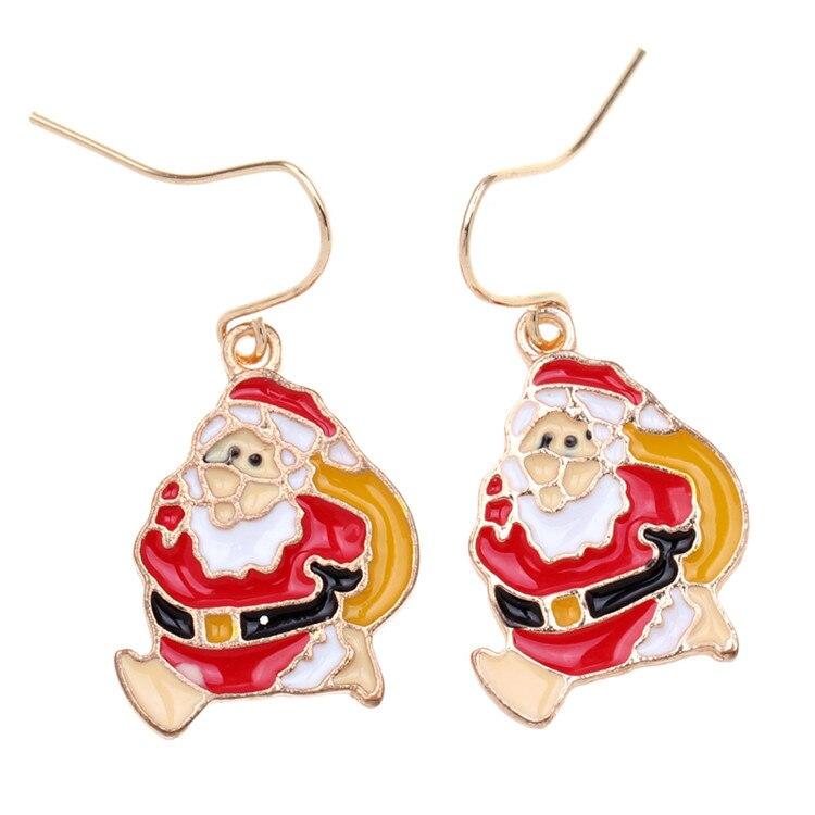 Heißer verkauf Ich ZEIGEN ein paar Weihnachtsmann ohrringe rot ...
