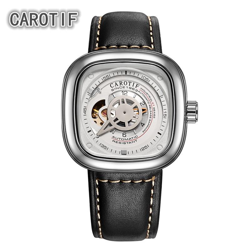 CAROTIF جودة عالية توربيون ساعات رجالية Montre HommeTop العلامة التجارية الفاخرة الساعات الرجال التلقائي ساعات المعصم الميكانيكية