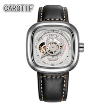 CAROTIF High Quality Tourbillon Men Watches Montre HommeTop Brand Luxury Business Watches Men Automatic Mechanical Wrist