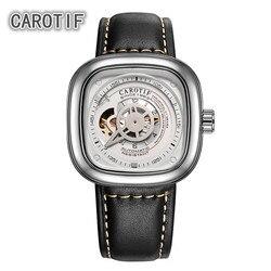 CAROTIF wysokiej jakości Tourbillon mężczyźni zegarki Montre HommeTop marka luksusowe zegarki biznesowe mężczyźni automatyczne mechaniczne zegarki na rękę
