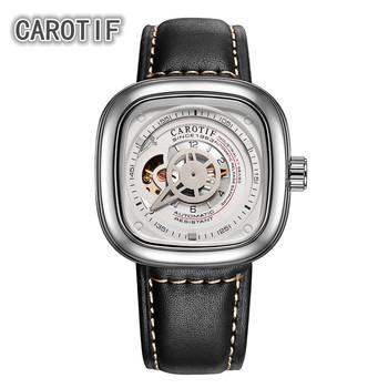 CAROTIF wysokiej jakości Tourbillon męskie zegarki Montre HommeTop marka luksusowe biznes zegarki mężczyźni automatyczne mechaniczne zegarki na rękę tanie i dobre opinie Klamra 3Bar 25cm Moda casual Ze stali nierdzewnej Automatyczne self-wiatr 15mm Plac Papier 22mm Odporne na wodę Odporny na wstrząsy