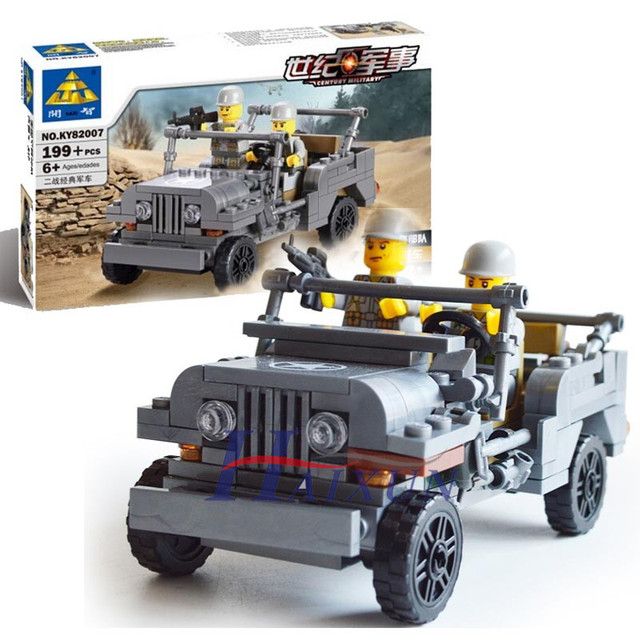 Kazi 82007 199pcs Playmobile Century Military Us Willys Mb Jeep