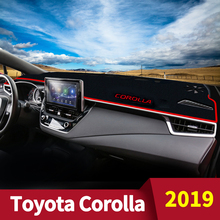 цена на For Toyota Corolla 2019 LHD Car Dashboard Cover Dash Mat Auto Sun Shade Cushion Pad Interior Protector Carpets Trim Accessories