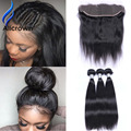 Black Friday Brazilian 13x4 Lace Frontal With Bundles Human Hair Lace Frontal Weave Ear To Ear Lace Frontal Closure With Bundles