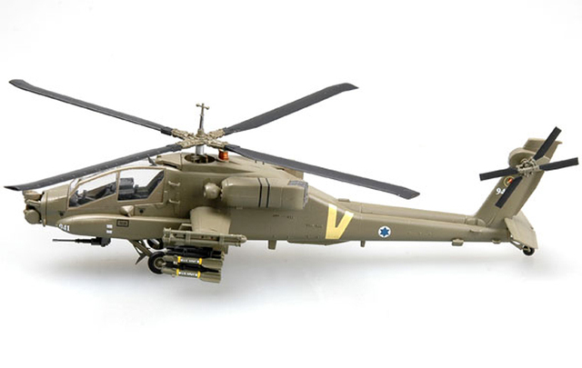 1:72 Scale Airplane Model Israel Apache AH-64A fighter Assembly Airforce Model Building Kits 37027 2