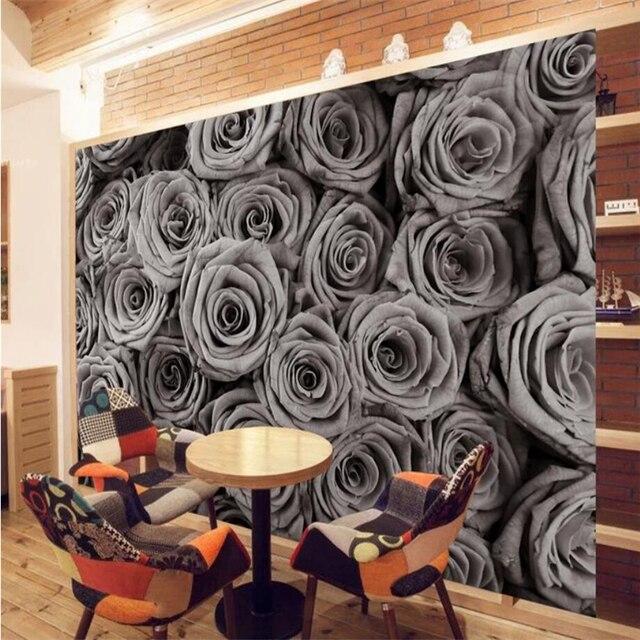 Beibehang Wallpaper Ruang Tamu R Tidur Antik Mawar Mural Televisi Latar Belakang Dinding Dekorasi Rumah