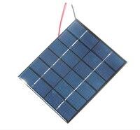 رائجة البيع الايبوكسي الخلايا الشمسية ألواح شمسية متعدد الكريستالات/ البلورات وحدة مع كابل لتقوم بها بنفسك نظام 2 واط 6 فولت شاحن بالطاقة الشمسية لبطارية 3.7 فولت 2 قطعة|المستجمعات الشمسية|   -