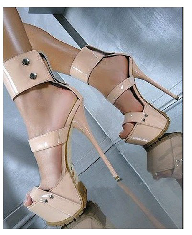 Hongyi Platform Shoes 16 cm Ultra High Heels Sandalias Mujer Round Toe Shoes Women Beige Gladiator Sandals Fashion Party Shoe women shoes sexy feather thin heels sandals fashion super high 11cm women sandals party shoes high heels sandalias mujer fashion
