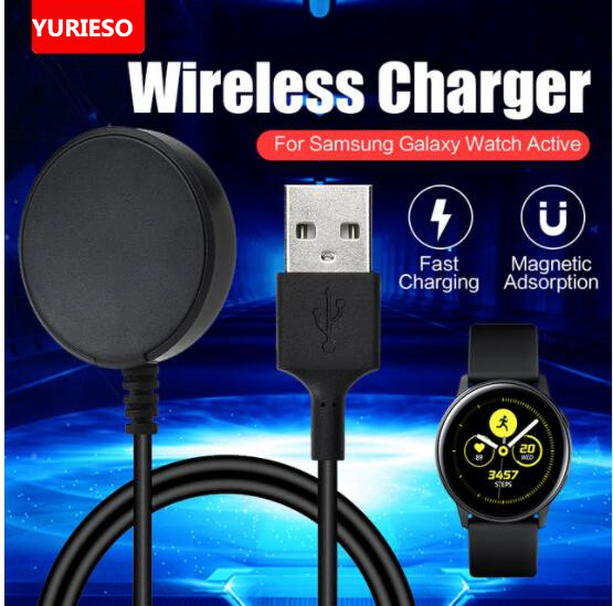 50pcs USB Charger Charging Cradle For Samsung Galaxy Watch Active R500 Smartwatch Replacement Charger Dock Charging