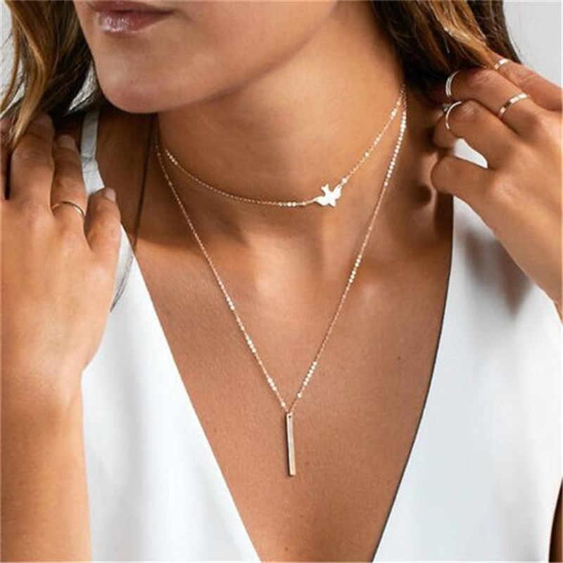 新ファッションハートクリスタルネックレス葉ムーンチョーカーネックレスのペンダントビーチスタイルステートメントジュエリービジュー #11