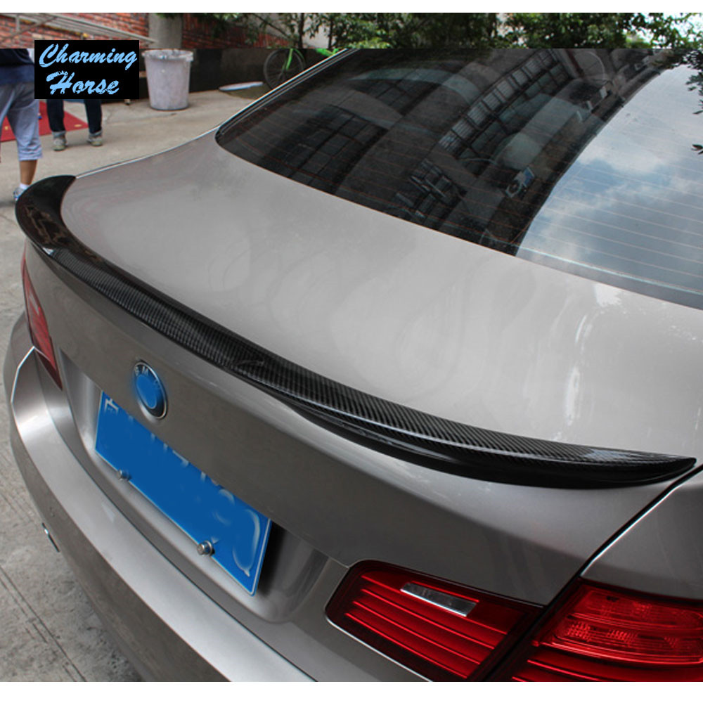 M4 style real carbon spoiler for bmw 5 series f10 m5 523i 528i 550i sedan carbon