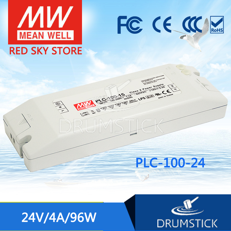 hot-selling MEAN WELL PLC-100-24 24V 4A meanwell PLC-100 24V 96W Single Output Switching Power Supply hot selling 100