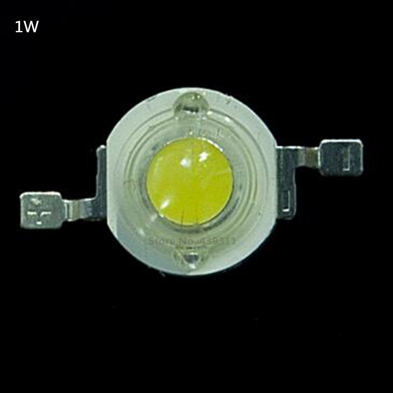 1W LED Bulbs High power 1W LED Lamp Pure White/Warm White  110-120LM 30mil Taiwan Genesis Chip Free shipping 10w 20w 30w 50w 100w led lights high power lamp warm white white taiwan genesis 30mil chips